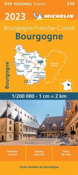 Michelin regional 519 Burgund 2020 Karte 1:200.000