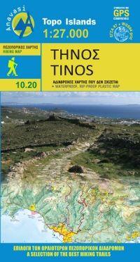 Tinos (Kykladen) Wanderkarte 1:25.000, Anavasi 10.20, Griechenland, wetterfest