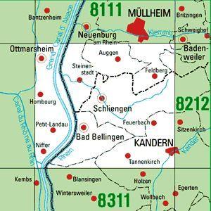 8211 KANDERN topographische Karte 1:25.000 Baden-Württemberg, TK25