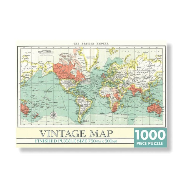 "Vintage Map Puzzle Welt ""The British Empire"" 1000 Teile, von Robert Frederick Ltd."