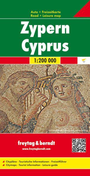Zypern, Straßenkarte 1:200.000, Freytag und Berndt