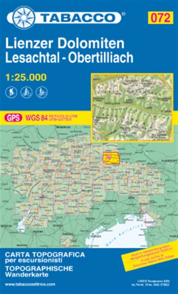 Tabacco 072 Lienzer Dolomiten Wanderkarte 1:25.000