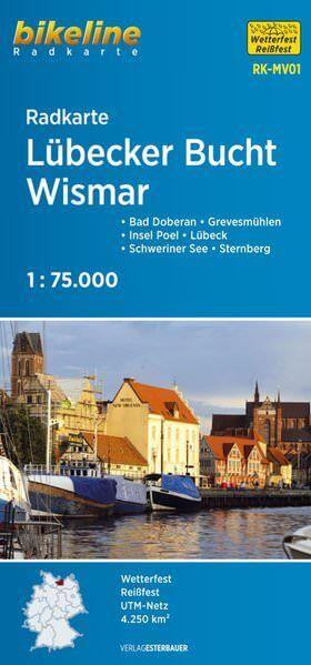 Lübecker Bucht, Wismar Bikeline Radkarte 1:75.000, Esterbauer