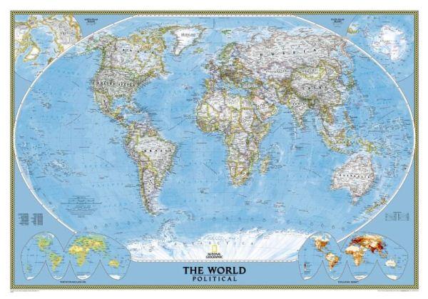 NGS Poster Weltkarte politisch Standardformat 109 cm x 76 cm