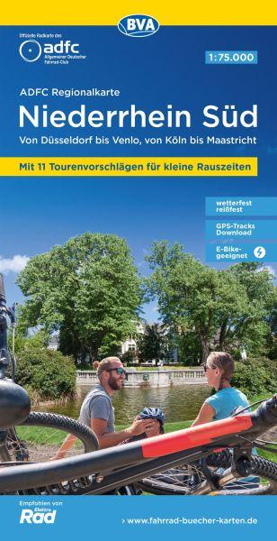ADFC-Regionalkarte, Niederrhein süd, Radwanderkarte