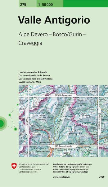 275 Valle Antigorio topographische Wanderkarte Schweiz 1:50.000