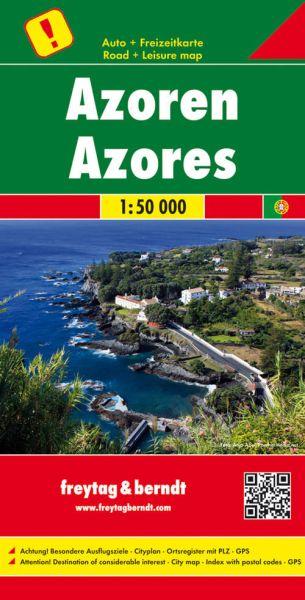 Azoren, Landkarte 1:50.000, Freytag und Berndt