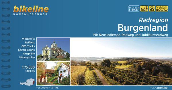 Burgenland, Bikeline Radwanderführer mit Karte