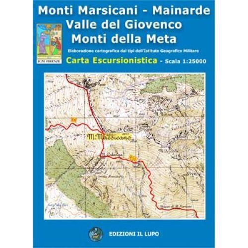 Wanderkarte für Monti Marsicani - Mainarde - Valle del Giovenco 1:25.000 - Il Lupo Nr. 11