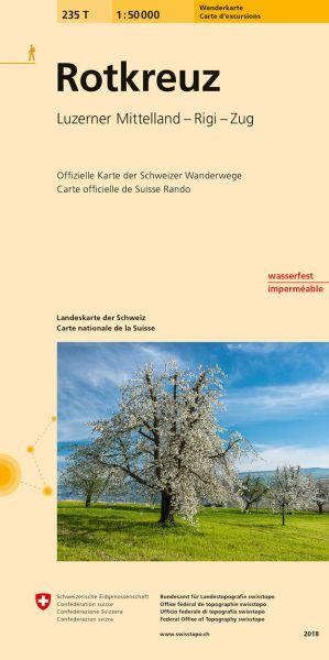 235 T Rotkreuz, topographische Wanderkarte Schweiz 1:50.000