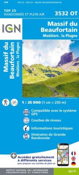 IGN 3532 OT Massif du Beaufortain, Moutier Frankreich Wanderkarte 1:25.000