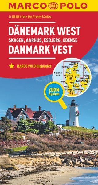 Dänemark West Straßenkarte 1:200.000, Marco Polo