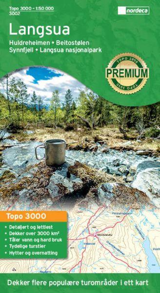 Langsua topographische Wanderkarte 1:50.000 Bl. 3002 - Nordeca Topo 3000