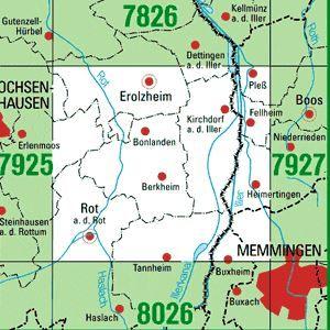 7926 ROT AN DER ROT topographische Karte 1:25.000 Baden-Württemberg, TK25