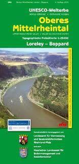 Oberes Mittelrheintal topographische Wanderkarte: Loreley - Boppard 1:25.000