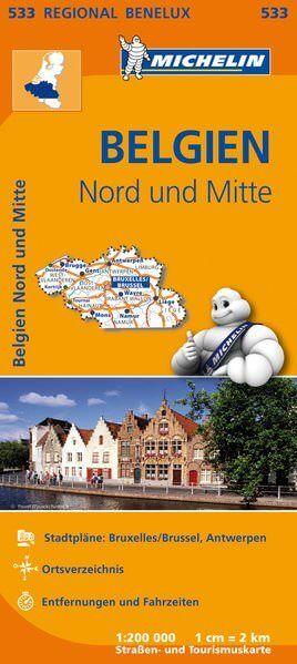 Michelin 533 Belgien Nord Straßenkarte 1:200.000