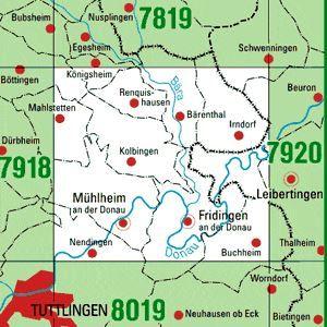 7919 MÜHLHEIM A.D.DONAU topographische Karte 1:25.000 Baden-Württemberg, TK25