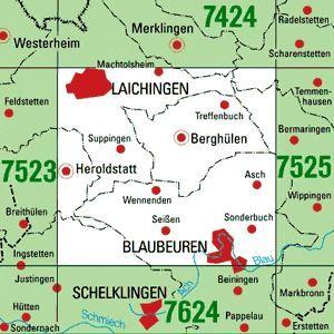 7524 BLAUBEUREN topographische Karte 1:25.000 Baden-Württemberg, TK25