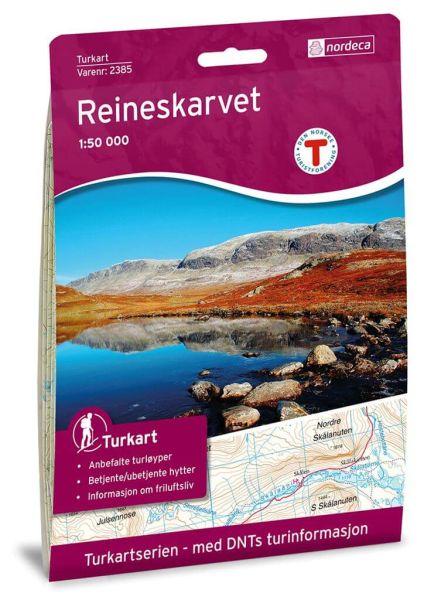 Reineskarvet Wanderkarte 1:50.000 – Norwegen, Turkart 2385 von Nordeca