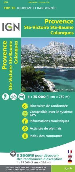 Provence 1:75.000 Rad- und Wanderkarte, IGN Top75035