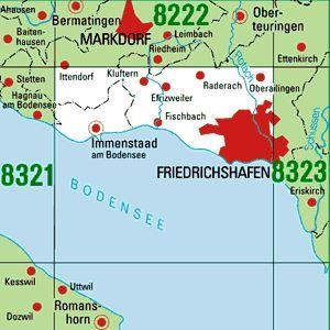 8322 FRIEDRICHSHAFEN topographische Karte 1:25.000 Baden-Württemberg, TK25