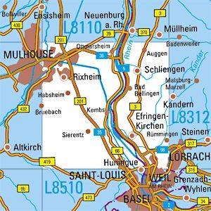 L8310 Lörrach topographische Karte 1:50.000 Baden-Württemberg, TK50