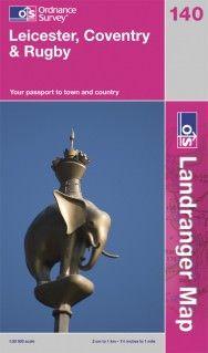 Landranger 140 Leicester, Großbritannien Wanderkarte 1:50.000