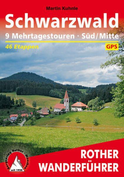 Schwarzwald Süd/Mitte Mehrtagestouren Wanderführer, Rother