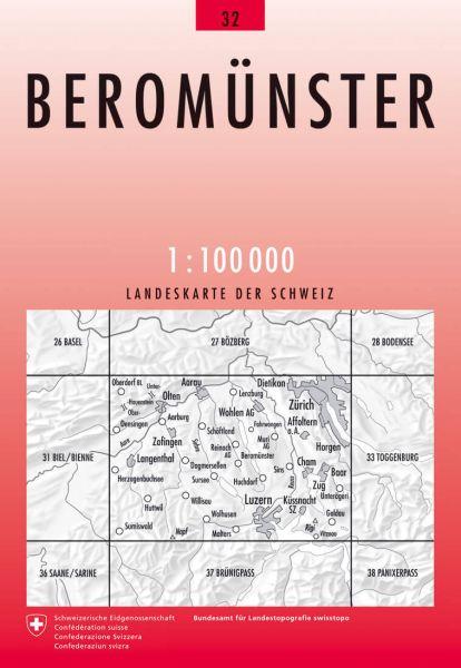 32 Beromünster topographische Karte Schweiz 1:100.000