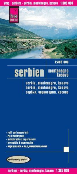 Serbien, Montenegro, Kosovo Landkarte 1:385.000, Reise Know-How
