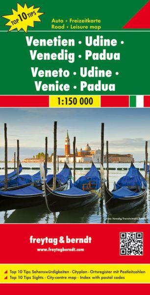Venetien - Udine Straßenkarte 1:150.000, Freytag und Berndt