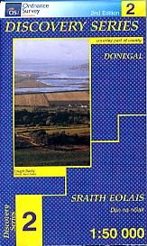 OSI 2 Donegal (N CENT), Wanderkarte, Ordnance Survey Ireland