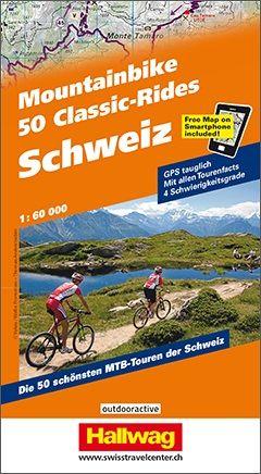 50 Classic-Rides Mountainbike Schweiz Atlas 1:60.000 von Hallwag
