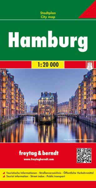 Hamburg, Stadtplan 1:20.000, Freytag und Berndt