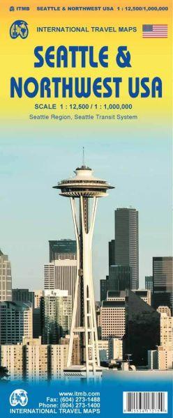 Seattle Stadtplan & Nordwest USA Landkarte, ITM
