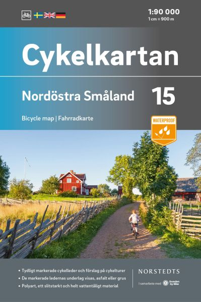 Nordost Smaland, 1:90.000, Radkarte Schweden, Norstedts