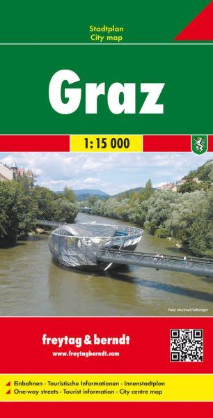 Graz, Stadtplan 1:15.000, Freytag und Berndt