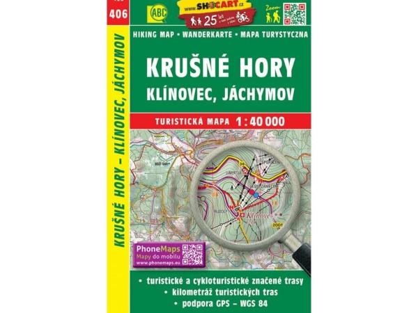 Krusne hory / Erzgebirge, Klinovec / Keilberg Wanderkarte 1:40.000 - SHOCart 406