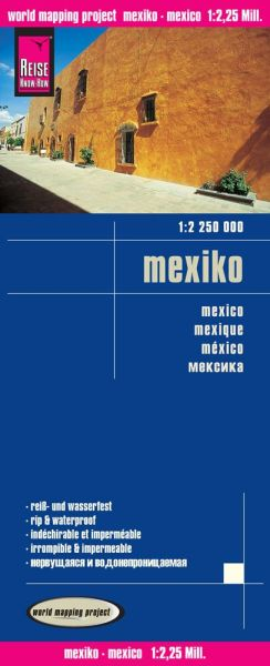 Mexiko Landkarte 1:2.250.000, Reise Know-How