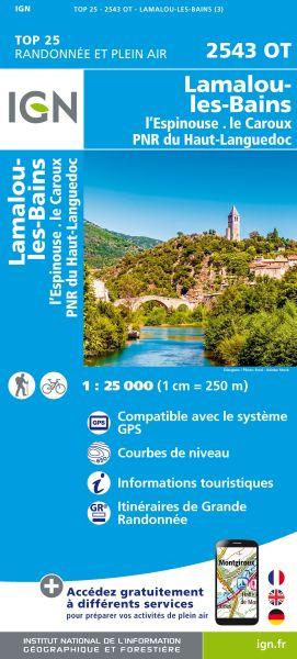 IGN 2543 OT Lamalou-les-Bains, Frankreich Wanderkarte 1:25.000