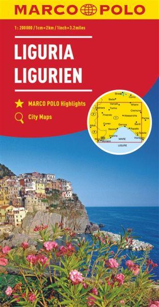 Ligurien Straßenkarte 1:200.000, Marco Polo Italien Blatt 5