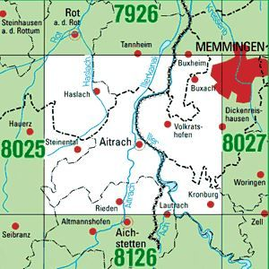 8026 AITRACH topographische Karte 1:25.000 Baden-Württemberg, TK25