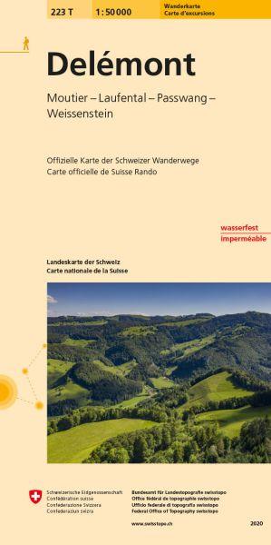 223 T Delemont Wanderkarte 1:50.000 - Swisstopo