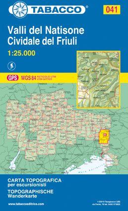 Tabacco 041 Valli del Natisone - Cividale del Friuli Wanderkarte 1:25.000