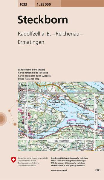 1033 Steckborn topographische Wanderkarte Schweiz 1:25.000