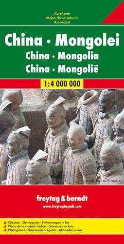 China, Mongolei, Straßenkarte 1:4.000.000, Freytag und Berndt