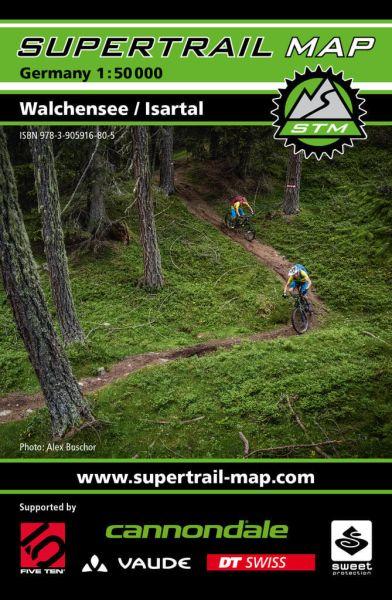 Supertrail Map Walchensee / Isartal Mountainbike-Karte 1:50.000, Wetterfest