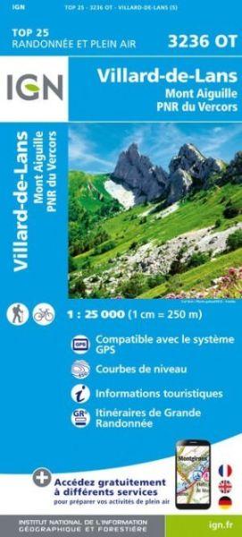 IGN 3236 OT Villard-de-Lans / Mont Aiguille / PNR du Vercors, Frankreich Wanderkarte 1:25.000