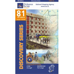 OSI 81 Cork, Waterford Wanderkarte 1:50.000