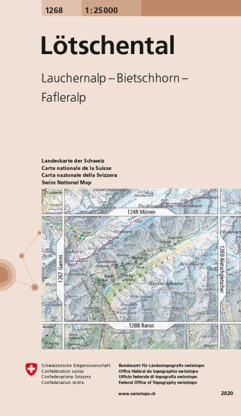 1268 Lötschental topographische Wanderkarte Schweiz 1:25.000